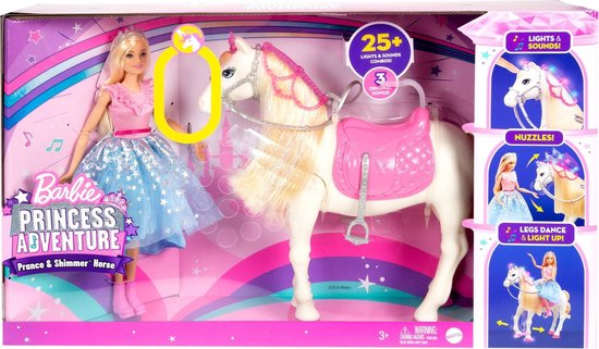 Barbie Princess Adventure Paard en Prinsessenpop