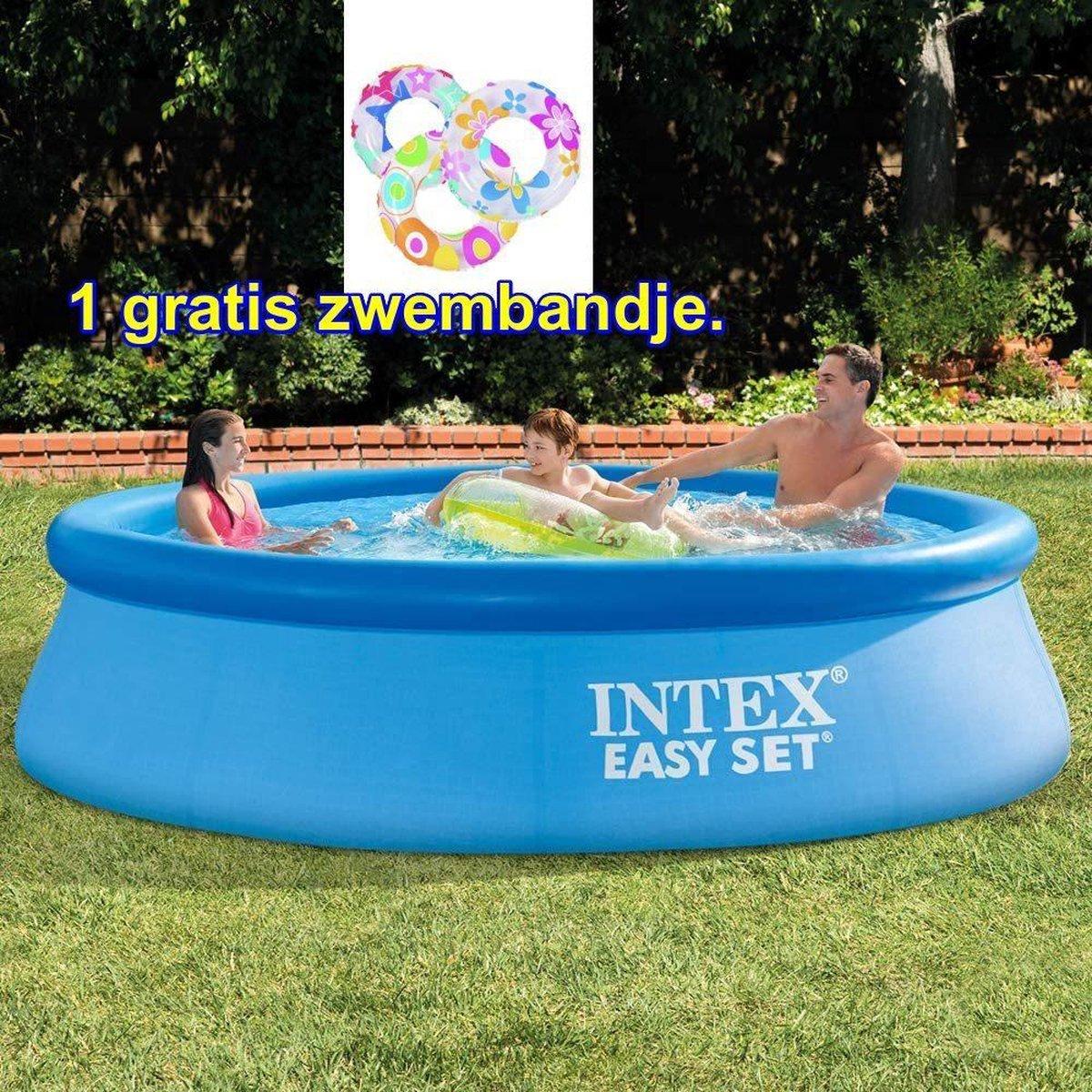 Pool - 305 x 76 cm. zwembad rond excl filterpomp. INCL GRATIS ZWEMBAND. Veel zwemplezier.