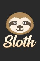 Sloth: 6x9 Sloth - lined - ruled paper - notebook - notes
