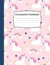 Composition Notebook: 8.5 x 11, 100 pages: Beautiful Pink Magic Unicorn Cover for Girls and Women: School Notebooks