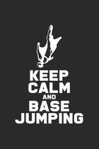 Keep calm and Base jumping: 6x9 Base Jumping - dotgrid - dot grid paper - notebook - notes