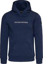 Blue Black Amsterdam Hoodie Jongens Sem - Donkerblauw - 140
