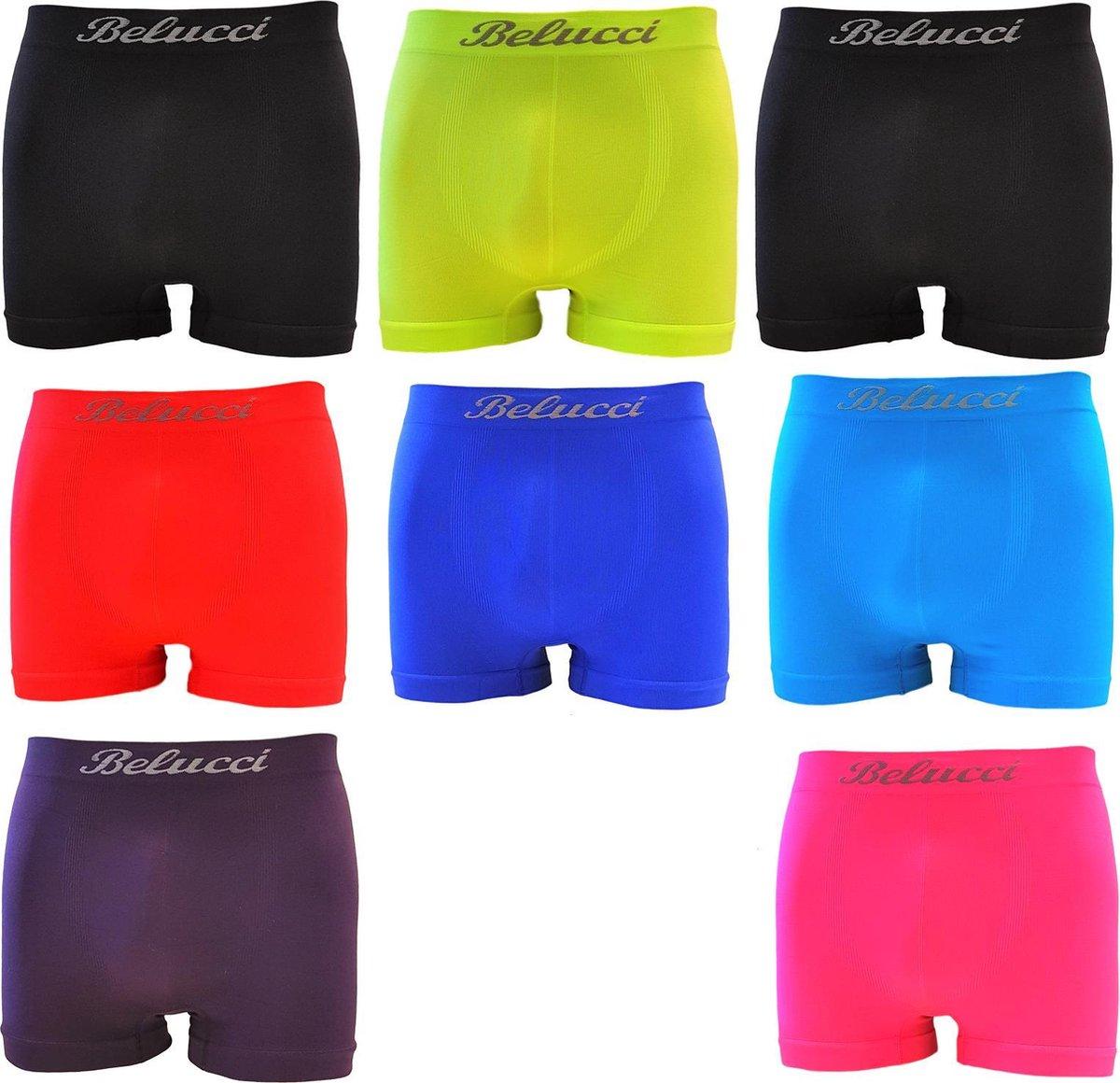Belucci Microfiber Heren Boxershort - 8-pack - Trendy Kleuren Maat M/L