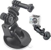 ST-51 Mini auto zuignap statiefadapter + 7cm diameter voetsteun voor GoPro - Zwart