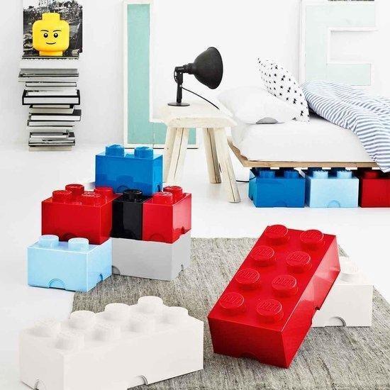 LEGO Opbergbox - Brick 4 - Classic Blauw - 6 L - 25 cm x 25 cm x 18 cm - Kunststo