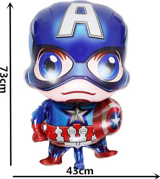 Grote Captain America Avengers Ballon - inclusief opblaas rietje - Folie Ballonnen Verjaardag Decoraties Ballons Kids Baby Boy Party Decoratie Speelgoed kinderfeestje versiering feestpakket