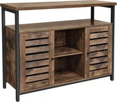 MIRA Home Dressoir - Opbergkast - Tv kast - Tv meubel - Industrieel - Vintage - 100 x 35 x 80