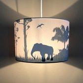Lamp Jongenskamer Safari | Silhouet Hanglamp Kinderkamer | Kinderlamp Camel  Giraf  Olifant | Land of Kids Verlichting