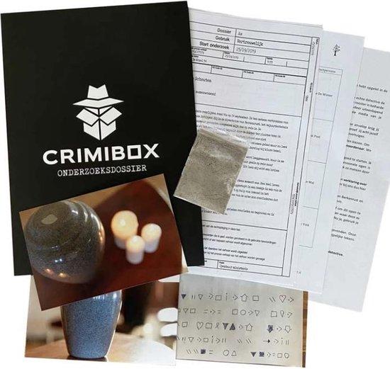 Crimibox - Dossier As - 'Meest verkochte detective spel in de Benelux' - Escape Room Spel voor Thuis