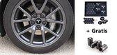 Tesla Model 3 S X Aero Wheel Cap Kit Wieldoppen Auto Accessoires Naafdoppen – OEM – Zwart Zilver