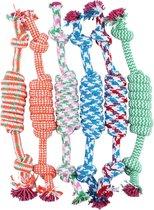Hondenspeelgoed touw - blauw / rood / groen / oranje - bijten - sterk - interactief - kauwen - trainen - puppy - hond - 25 cm - per stuk