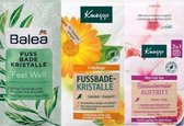 Set van 3 kneipp + Balea ( Kneipp Mini foot spa 2in1 + Balea Voetbad kristallen Feel Well (40 g) + Kneipp Voetbadkristallen, 40 g)