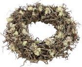 DBT Krans-Kerstkrans Muga Bonsai-Hout-Mos Bruin-Natural D 45 cm