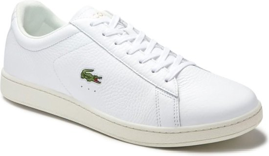 Lacoste Carnaby Evo 0120 2 SMA Heren Sneakers - White/Black - Maat 46