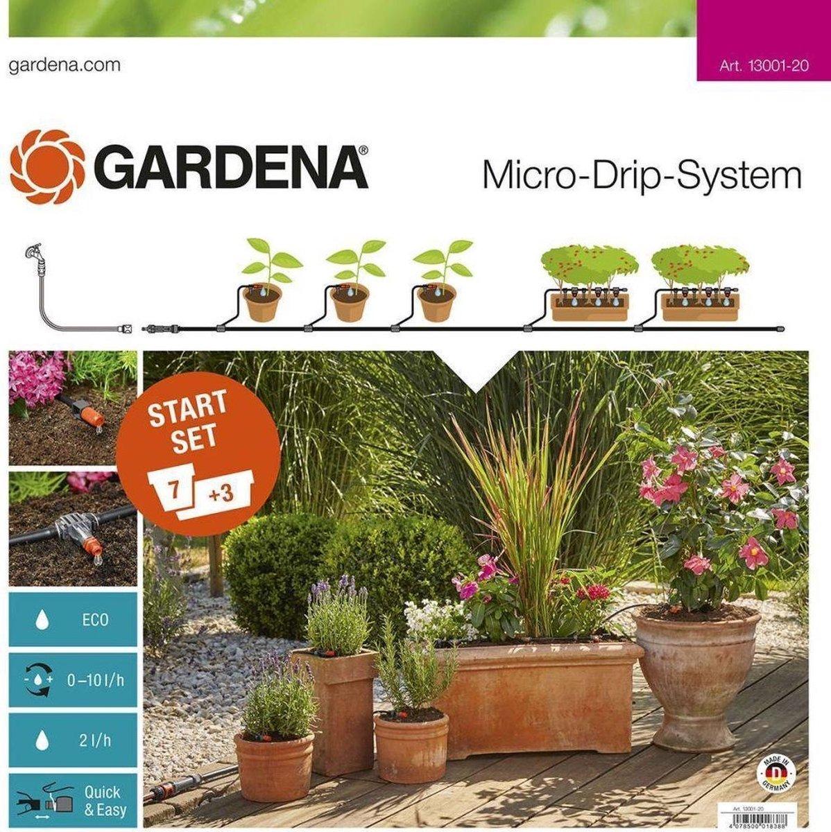 GARDENA Micro Drip System Startset Bloempotten Druppelsysteem - Geschikt Voor 7 Bloempotten - 3 Bloe