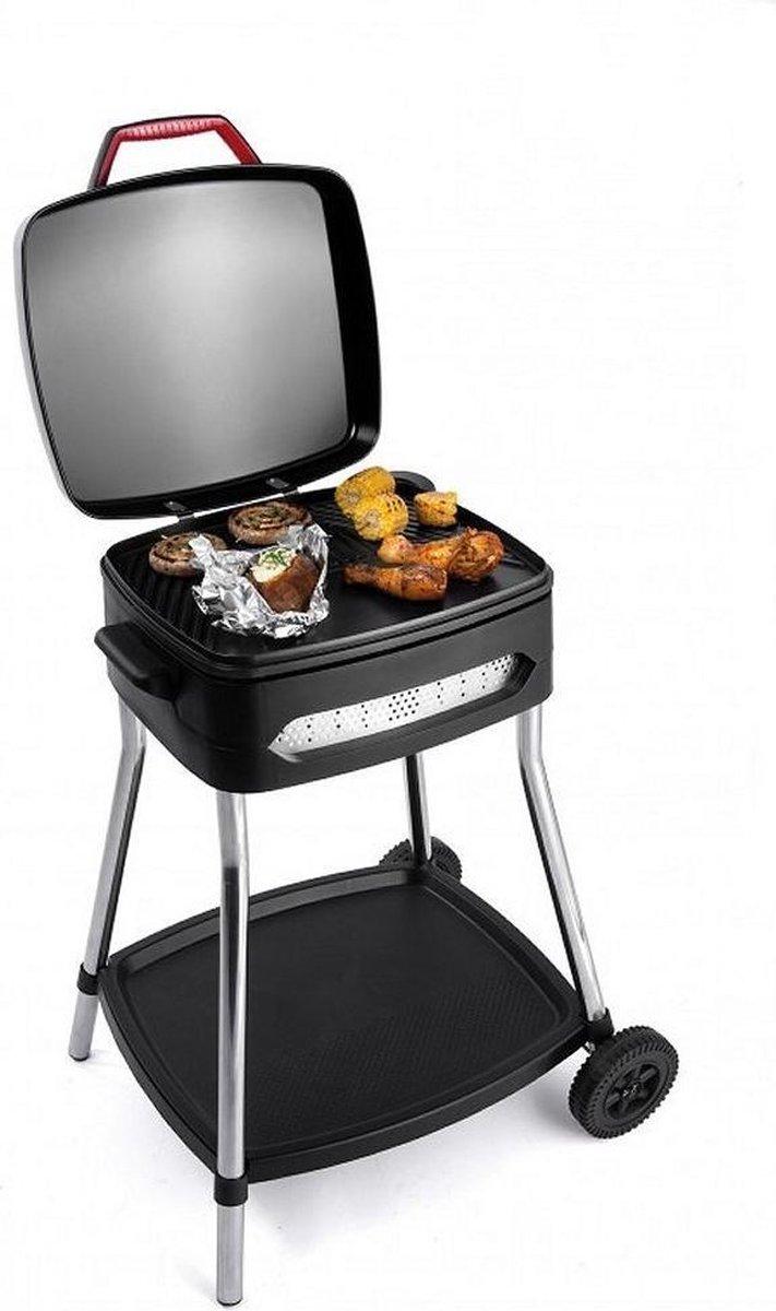Fritel Elektrische Barbecue en Tafelgrill - Grilloppervlak (LxB) 40x36 cm - Met Onderstel - Zwart