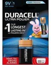 Duracell Ultra alkaline 9V-batterij, verpakking van 1