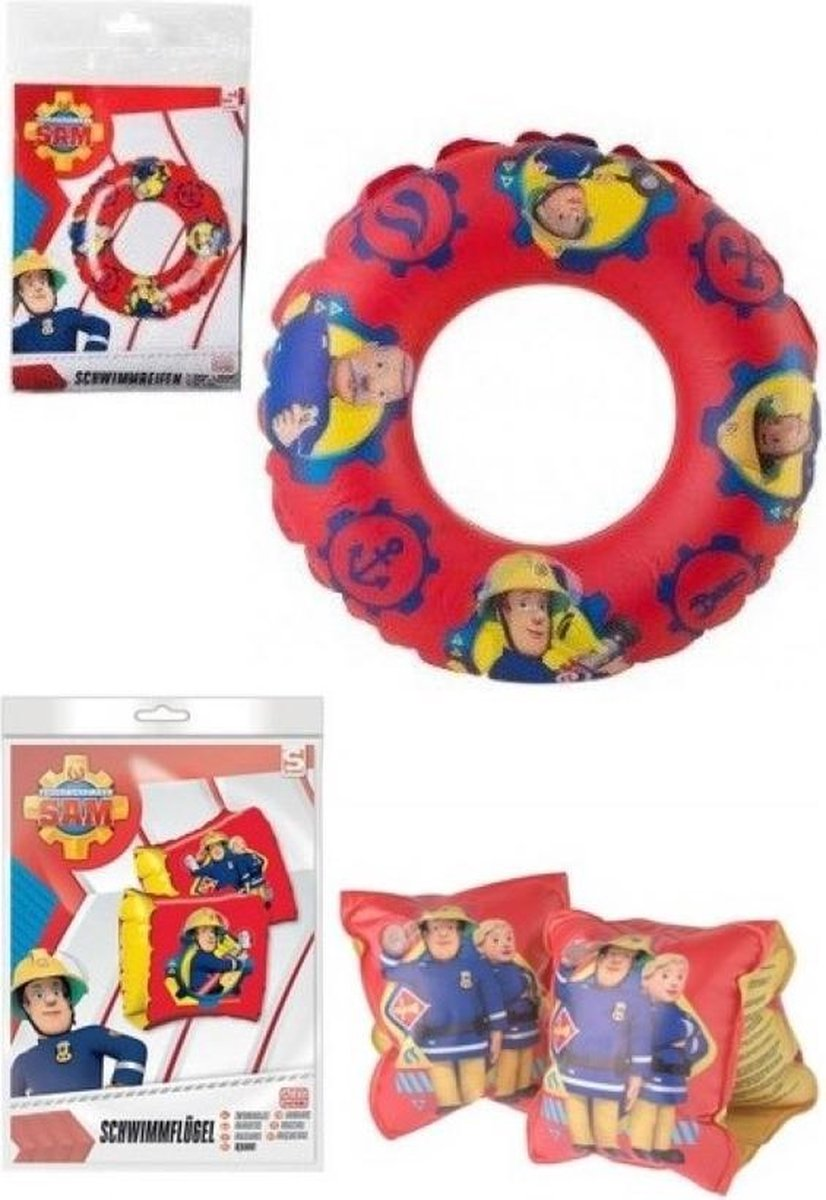 Fireman Sam opblaasbare zwemband + zwemmouwtjes