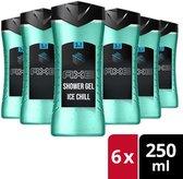 Axe Ice Chill Showergel - 6 x 250ml - Voordeelverpakking
