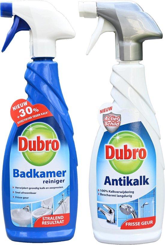 1 x Dubro badkamer reiniger spray - 1 x Dubro Antikalk - 100% Kalkverwijdering