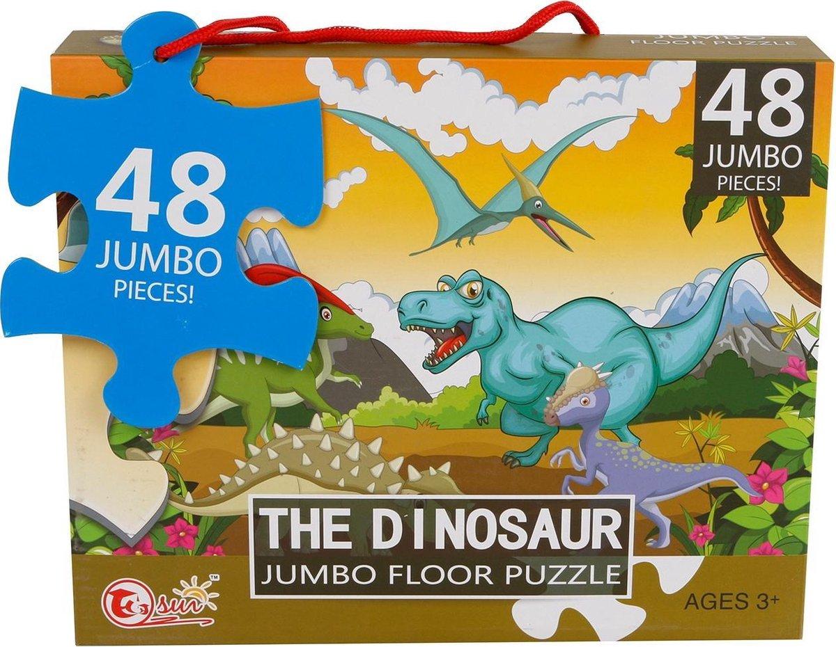 Van Manen Vloerpuzzel The Dinosaur Jongens 90 X 60 Cm 48 Stukjes