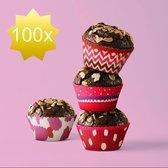 Muffin Bakvormen / Muffinvorm Cupcake Papier Vormpjes - 100 Stuks
