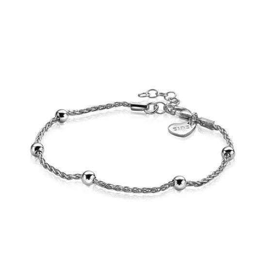 ZINZI zilveren fantasie armband 17,5-20,5cm  ZIA1128