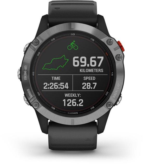 Fenix 6 Solar - Multisport horloge - 47 mm - Zilver/zwart