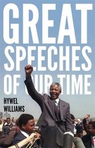 Boek cover Great Speeches of Our Time van hywel williams