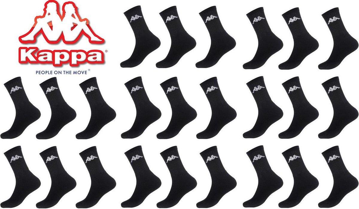 Kappa zwarte sport sokken mega multipack 12 paar maat 43/46