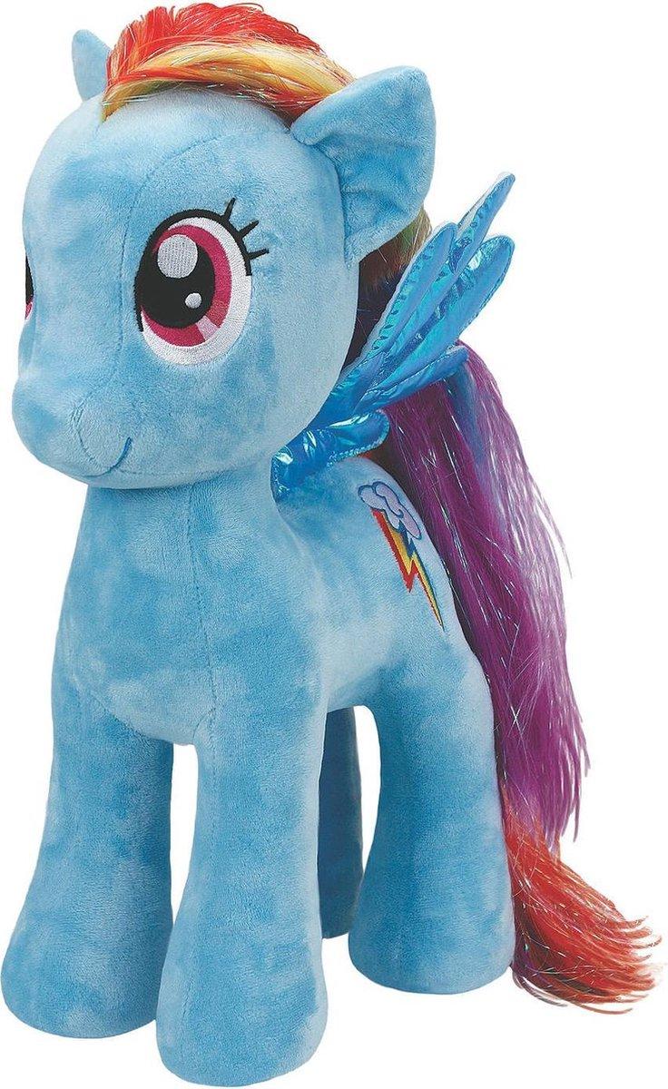 My Little Pony Rainbow Dash knuffel - 42 cm - Met gekleurd regenboog haar