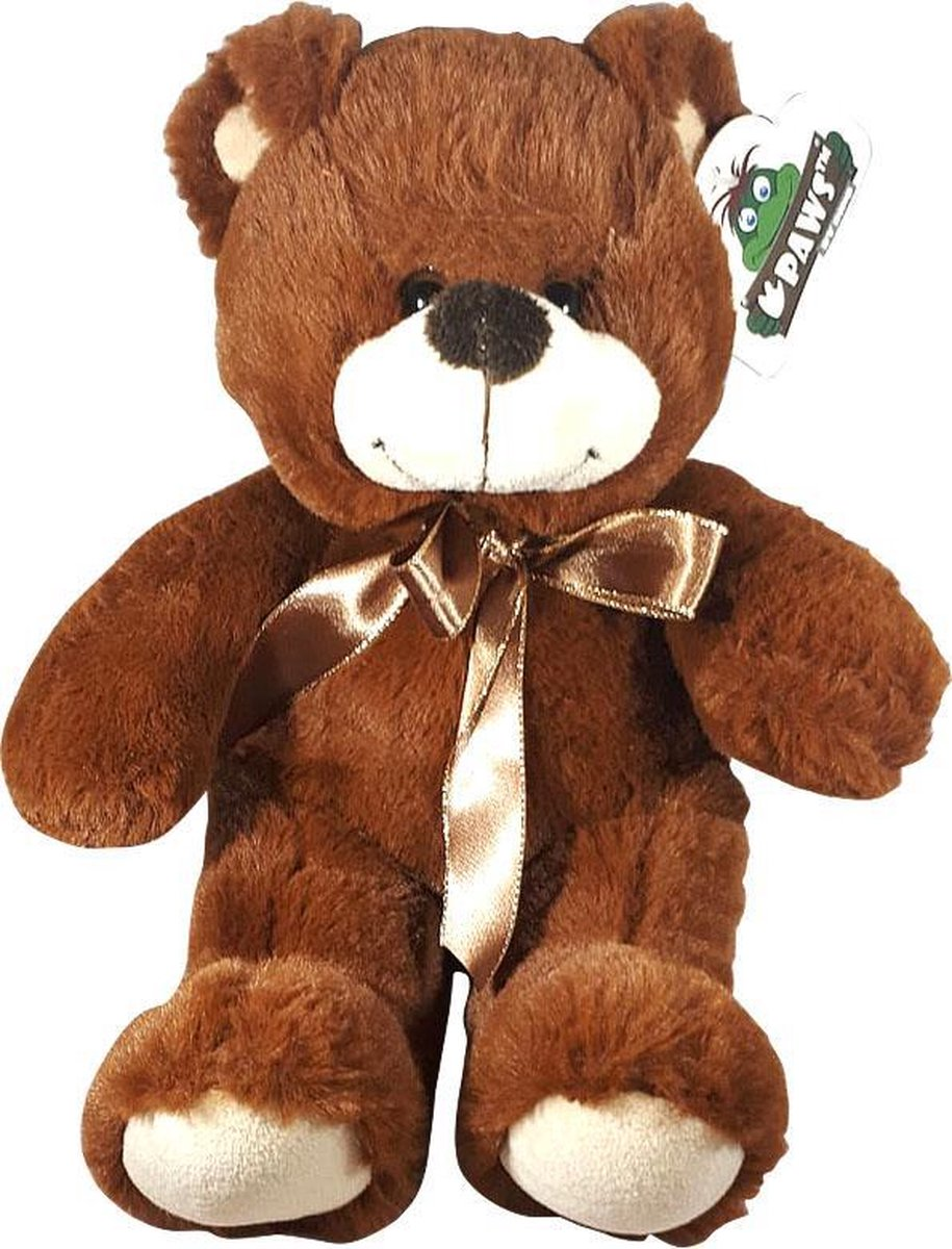 Teddybeer Met Strik Bruin 38cm
