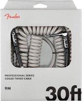 "Fender Professional Coil Cable 30"" White Tweed Gitaar kabel"
