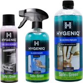 HYGENIQ Ecologische oppervlaktereiniging combi-pack - Vloerreiniger, Glasreiniger, RVS-reiniger