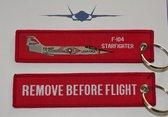 F-104 Starfighter sleutelhanger Remove Before Flight