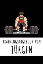 Trainingstagebuch von J�rgen: Personalisierter Tagesplaner f�r dein Fitness- und Krafttraining im Fitnessstudio oder Zuhause