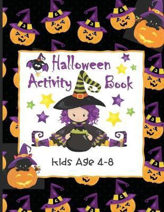 Halloween Activity Book Kids Age 4-8