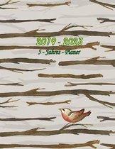 2019 - 2023 5 - Jahres - Planer: Monatsplaner f�r 5 Jahre - 60 Monate Kalender, 5 Jahre Terminvereinbarung, Tagebuch, Logbuch (Design: Vogel)
