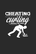 Cheating curling: 6x9 Curling - dotgrid - dot grid paper - notebook - notes