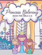 Princess Coloring Book for Girls 4-8: Activity Book with Pretty Princesses and Castles