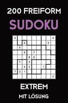 200 Freiform Sudoku Extrem Mit Loesung