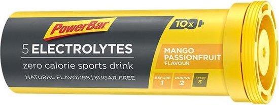 Powerbar Sportdrank Electrolyte Tabs - Met 5 Elektrolyten - Mango Passievrucht - 10 tabletten