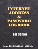 Internet Address & Password Logbook