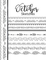 October Sketches: Astrology Sketchbook Activity Book Gift For Women & Girls - Daily Sketchpad To Draw And Sketch In As The Stars And Pla