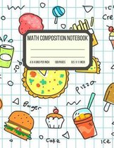 Math Composition Notebook: Graphing Paper Composition Notebook - 4 x 4 Grid per Inch