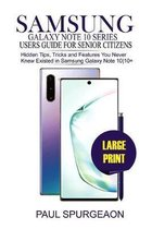 Samsung Galaxy Note 10 Series Users Guide For Senior Citizens