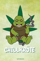 Chillkr�te: Lustige Cannabis Schildkr�te Geschenk f�r Chiller und Kiffer Geburtstag Rasta Weihnachten Weed Grower und Stoner Tageb