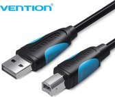 Vention Printer Kabel USB 2.0 A Male naar USB B Male Print 5 meter