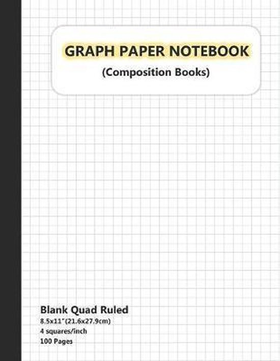 Graph Paper Notebook: Graph Paper Notebook 1/4 inch Squares, Graph Book for Math, Graph Paper Notebook for Student, Math Composition Noteboo