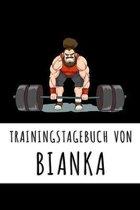 Trainingstagebuch von Bianka: Personalisierter Tagesplaner f�r dein Fitness- und Krafttraing im Fitnessstudio oder Zuhause